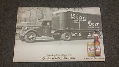Stag Heritage Truck Tin Metal Beer Sign - FREE S/H - Brand New By Pabst