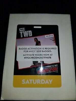 Nycc 2019 New York Comic Con Saturday Badge Ticket Can Transfer To Your Account