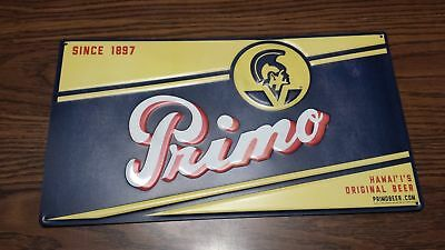 Primo Tin Metal Beer Sign - Brand New from Pabst and Schlitz - FREE S/H