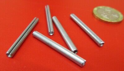 "18-8 Stainless Steel, Slotted Roll Spring Pin .125"" Dia x 1 1/4"" Length, 100 pcs"
