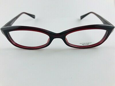 New Authentic Oliver Peoples Eyeglasses Marceau SI Red Burgundy 51-18-138
