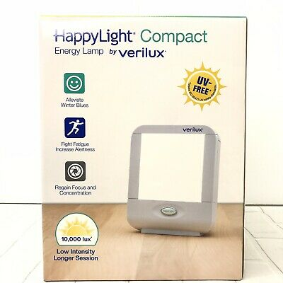 Verilux HappyLight Compact Personal Portable Light Therapy Energy Lamp