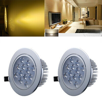 2x 12W 12xLED Recessed Ceiling Light Bulbs Cabinet Downlight Warm White Lamp