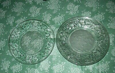 Princess House Fantasia Set of Four ( 4 ) LUNCHEON PLATES in PERFECT Condition