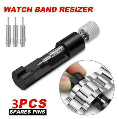 Alloy Adjustable Watch Band Bracelet Repair Tool Link Pin Remover + 3 Pins Kit