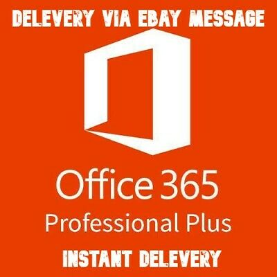 INSTANT Microsoft Office 365 ProPlus 2016/2019 5/PC/MAC/Mobile Lifetime New 🔥