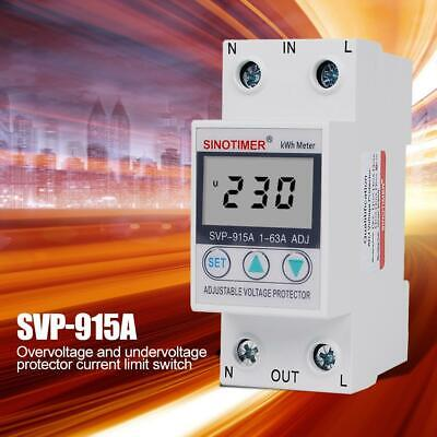 SVP-915A LCD Automatic Recovery Adjustable Voltage Surge Protector Relay US