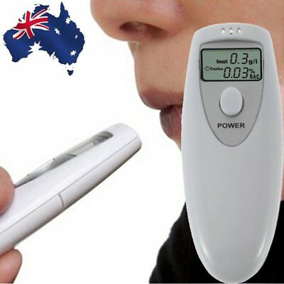 Portable MINI LCD Digital Alcohol Breath Tester Analyzer Breathalyzer AU