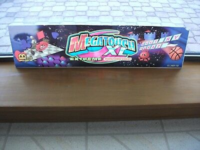 MEGATOUCH XL Arcade Game Markee Header Marquee Graphics by Merit