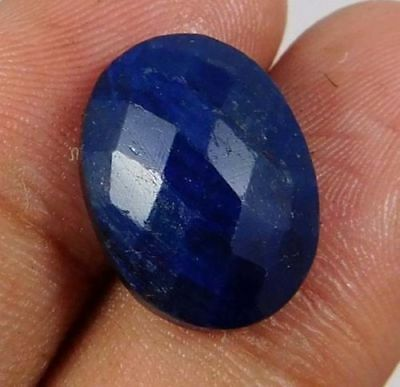 Dyed-Faceted-Blue-Sapphire-Gemstone 12 CT 15x10  AQ848