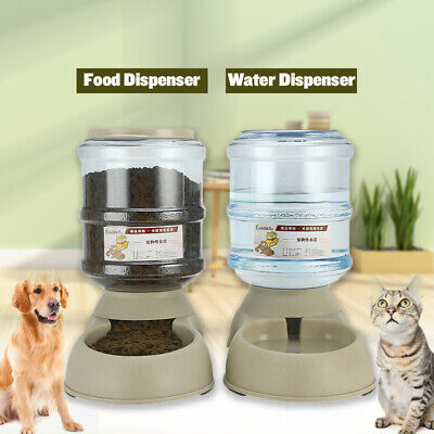3.8L Pet Dog Puppy Cat Automatic Water Dispenser Food Dish Bowl Feeder