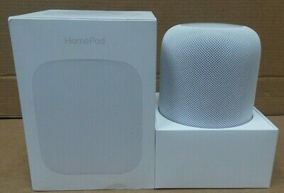 New-Open Box - Apple HomePod Voice Enabled Smart Assistant - White