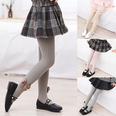 Kids Girls Fashion Warm Bow Leggings Children Skinny Trousers Pants Cute Clothes