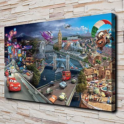 """HD Canvas Print Paintings Disney Cars 2 Home Decor Wall Art Pictures 16""""x28"""""""