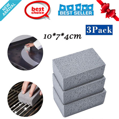 BBQ Grill Cleaner Pumice Stone Scraper Block Barbeue Griddle Cleaning Reusable