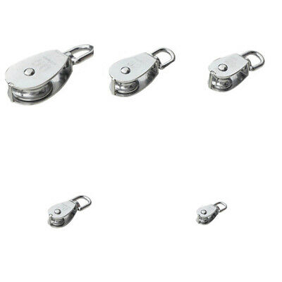 304 Stainless Steel Pulley Swivel Block Lifting Rope Wheel Tools For Wire Rope