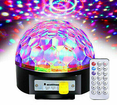 AU Large Mp3 Player USB Projector Disco Light Remote Control LED Party Lights