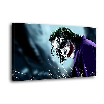 "DC Batman Joker Paintings HD Print on Canvas Home Decor Wall Art Picture 16""x30"""
