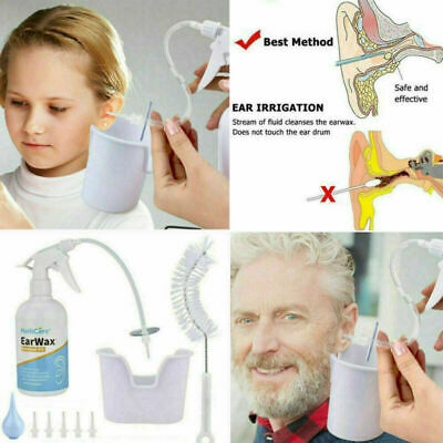 Ear Wax Cleaner Earwax Removal Kit Earwax Cleaning Tool with Basin 5 Tips