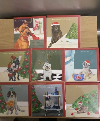 Dog and Cat Funny Humorous  Christmas Cards by The Little Dog Laughed