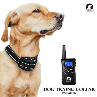 PaiPaitek Reflective 500 Yard Remote Pet Dog Training Collar Dog No Bark eCollar