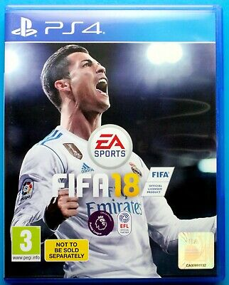 FIFA 18 - PS4 Playstation 4, PAL, FREE 1st CLASS POST - Soccer Football 2018 - A
