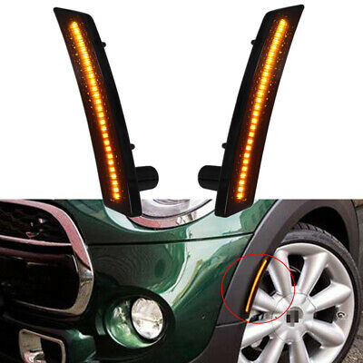 Front LED Side Fender Marker Light for MINI Cooper Coupe Countryman Clubman 2x