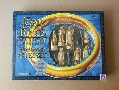 Lord Of The Rings Chess Set The Return Of The King Antique Bronze & Ancient Bone