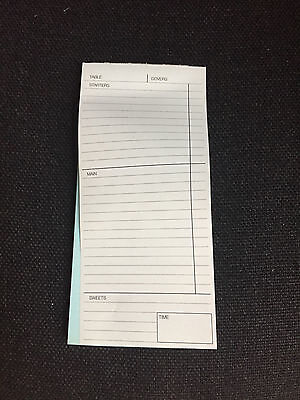 2 Part , Restaurant Cafe Pub Waiter Food Order Pads X 20 Pads