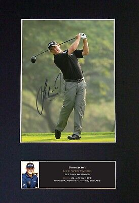 #457 LEE WESTWOOD Reproduction Signature/Autograph Mounted Signed Photograph A4