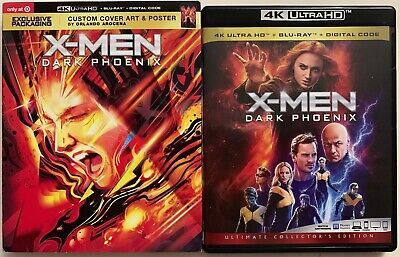 X-Men Dark Phoenix 4K Ultra Hd Blu Ray 2 Disc Target Exclusive Slipcover Poster