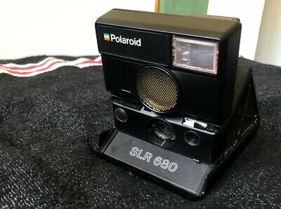 Polaroid SLR 680 Instant Camera w/ Leather Bag, Working, Near-Mint Condition