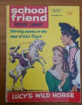 School Friend Picture Library For Girls- No 29-Lucy's Wild Horse-1963