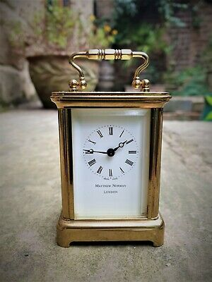 A Fine Quality Swiss Miniature Carriage Clock By Matthew Norman - Good Condition