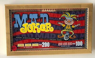 Vintage Game Machine Backglass...Mad Joker, in perfect codition