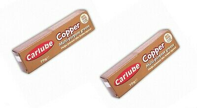 2 x Carlube Copper grease Multi Purpose Anti Sieze Assembly GREASE    70g TUBE!