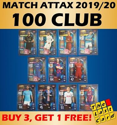 Match Attax 2019/20 100 Club - Buy 3 Get 1 Free ! 101 Foil