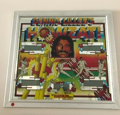 Denni Lillee's Howzat Pinball Backglass and Playfield by Hankin