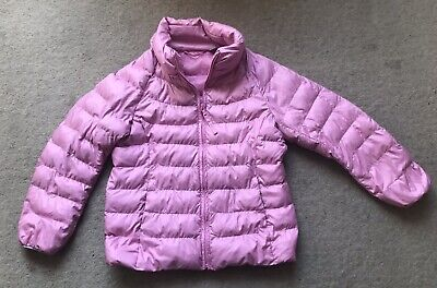 Uniqlo Baby Pink Padded Bomber Coat Lightweight Jacket Age 3-4 Years