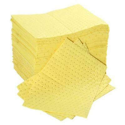 Fentex Chemical Absorbent Pads 100 Litres 400x500mm Yellow Ref CB100