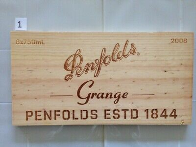 "P1 Wine Box Side PANEL: Vintage 2008 Penfolds ""Grange"" - Australia."