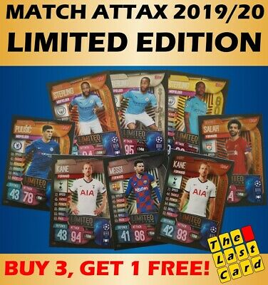 Match Attax 2019/20 Limited Edition - Buy 3 Get 1 Free ! Gold Silver Bronze