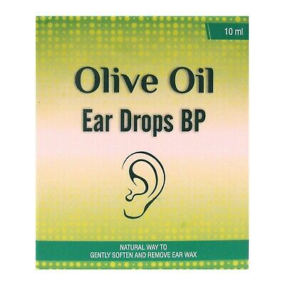 Olive Oil Blocked Ears Wax Remover Drops - 10ml