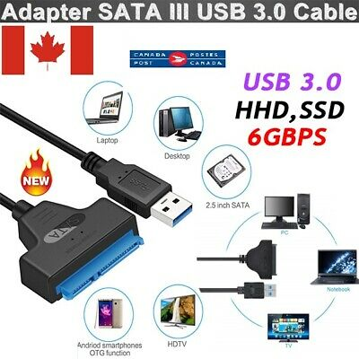 "USB 3.0 to SATA External Converter Adapter Cable Lead for 2.5"" HDD SSD SATA III"