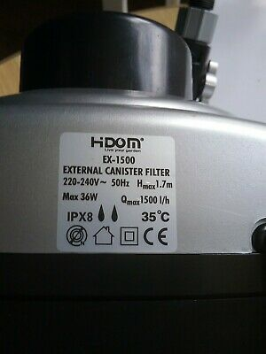 Hidom Ex1500 aquarium External Filter