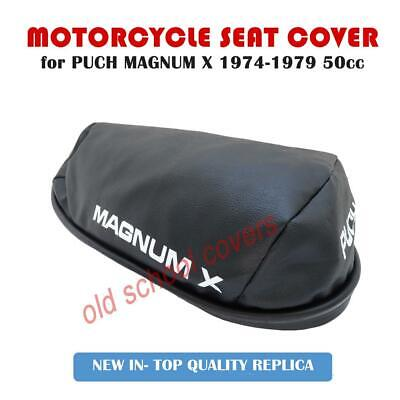 PUCH MAGNUM X 50cc 1974-1979 REPLICA SEAT COVER WITH WHITE LOGOS