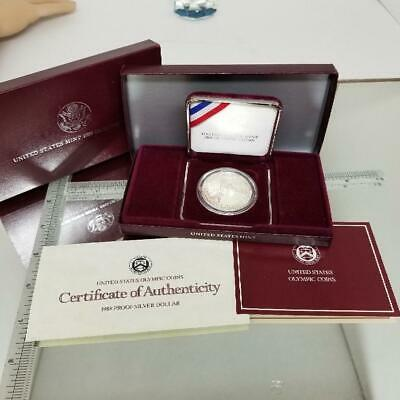 1988 S Olympics Proof Commemorative 90% Silver Dollar Us Coin (Gep002521)