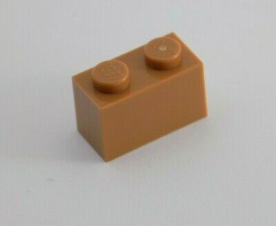 size 1x1 - 4569385 Parts 5 x Lego Medium dark flesh brick with vertical clip