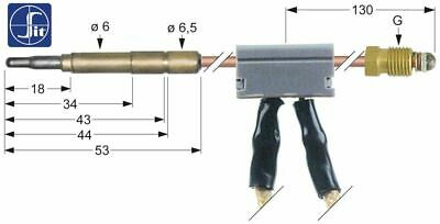 Thermocouple  With Interrupter Length 1000 Mm Gas Tap Onnection M9X1 Sit