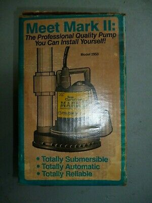Simer Model 2950 Geyer Classic Submersible Sump Utility Pump Mark Ii